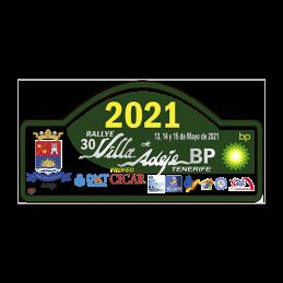 Placa adhesivo 30º Rallye...