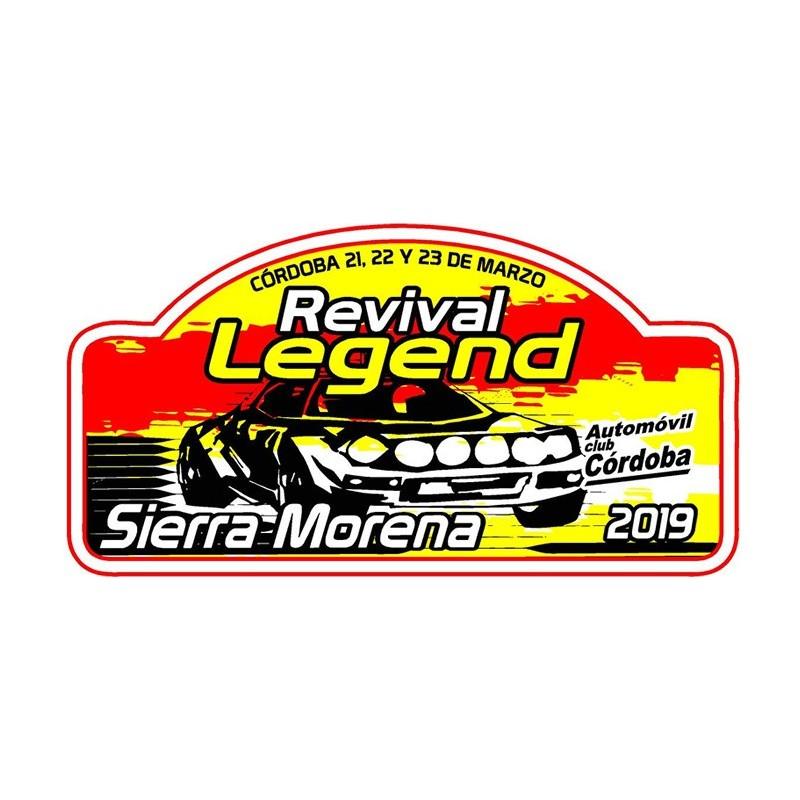 Placa Legend 2018 grande