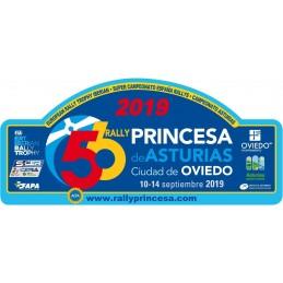 Placa Princesa 2019 pequeña