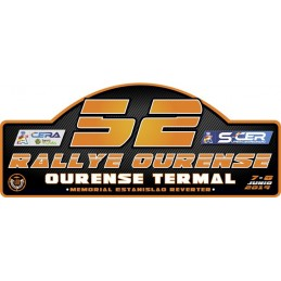 Placa Rallye Ourense 2019...