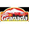 Placa  VII Rallye Ciudad de Granada vinilo pequeño