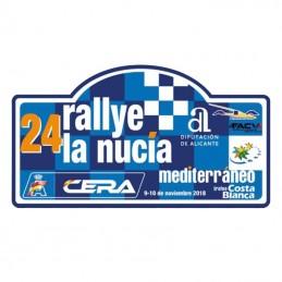 Placa Rallye la Nucia  2018...