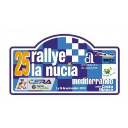 Placa Rallye la Nucia 2019...