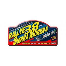Placa 38º Rallye Sierra Morena RIGIDA