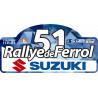 Placa Rallye de Ferrol-Suzuki 2020- vinilo pequeño