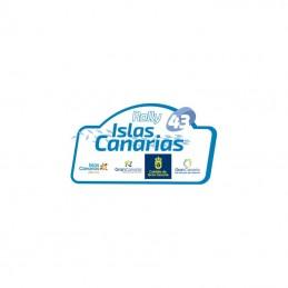 Placa 2019 Rally Islas Canarias pequeña